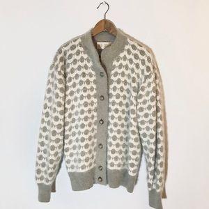 Belldini Angora Rabbit Hair Button-down Sweater